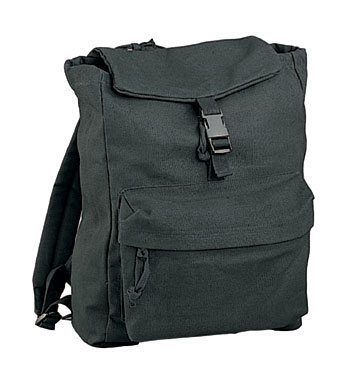 CANVAS DAYPACK - BLACK