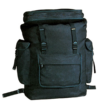 CANVAS EUROPEAN RUCKSACK - BLACK