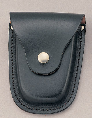 DELUXE LEATHER HANDCUFF CASE / BLACK