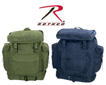 CANVAS EUROPEAN RUCKSACK - OD / NAVY